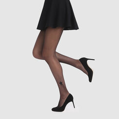 Black fishnet tights with a star Agnès B. x Dim, , DIM