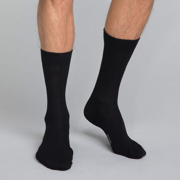 Cotton Black Men's Crew Socks , , DIM