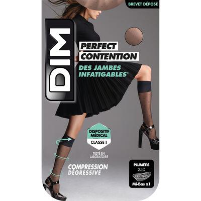 Mi-Bas Fantaisie Noir de Contention pour Femme Perfect Contention, , DIM