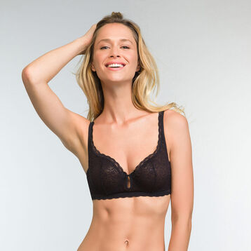 Bustier Balconette Bra in Black Daily Glam Trendy Sexy , , DIM