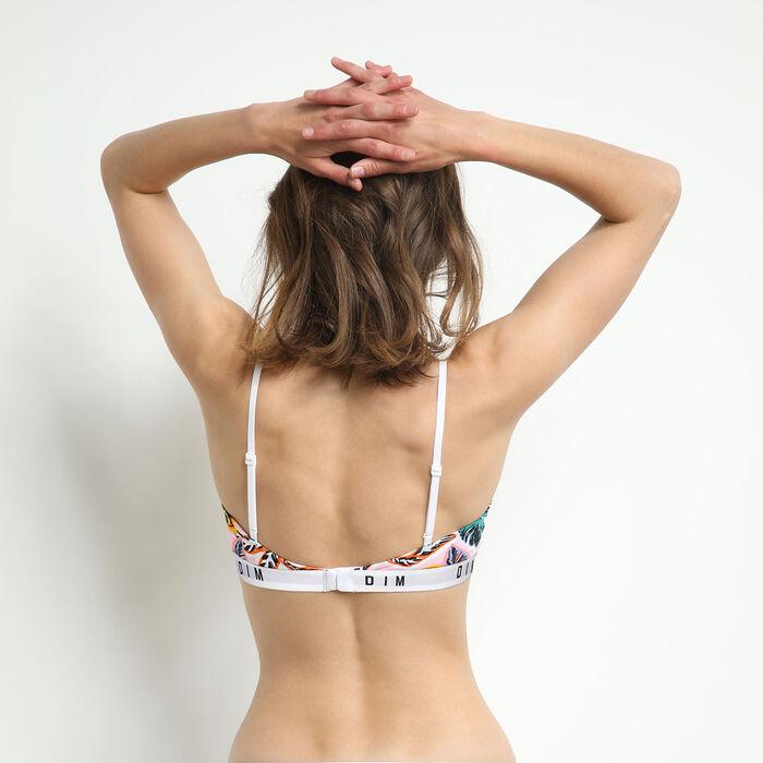 Dim Originals Women's stretch cotton bra Palm Beach print, , DIM