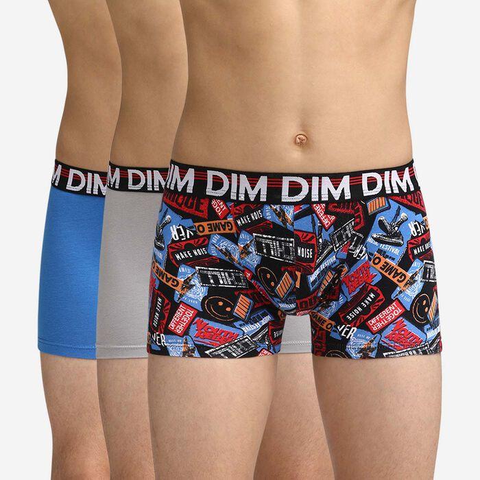 Pack de 3 calzoncillos de colores para niños Dim Boy, , DIM