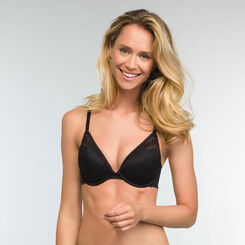 Triangle Push-up Bra in Black Lace Mod by Dim, , DIM