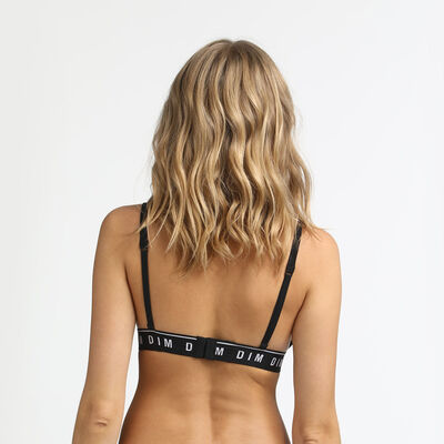 Underwired triangle bra in black Originals Cotton, , DIM