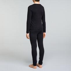 Black DIM Boy cotton long sleeved T-shirt - DIM