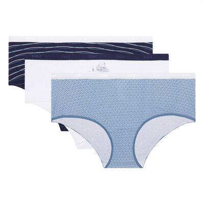 Набор 3шт.: Хлопковые шорты с узорами Dim Les Pockets Cotton, , DIM