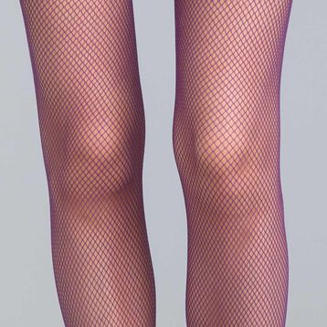 Style 73 midnight purple fishnet tights - DIM