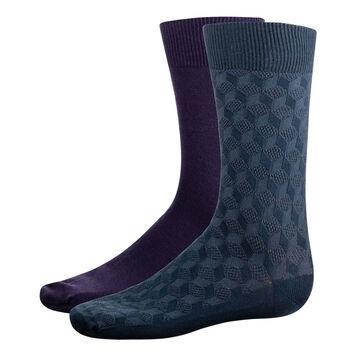 Lot 2 paires mi-chaussettes Bleu Astral et Turquin homme Coton Style, , DIM