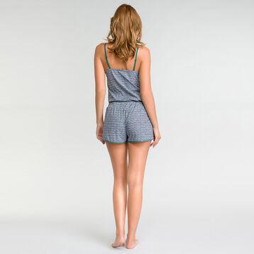 Green patterns pyjama shorts - DIM Odyssée, , DIM