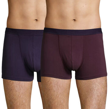 2 Pack Stretch Cotton trunks Purple Grape Velvety Violet Soft Power, , DIM
