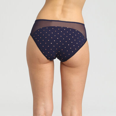 Generous Limited Edition blue microfibre briefs with sparkly polka dots, , DIM