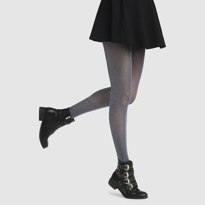 Dim Style 23D fancy tights in petrol blue lurex, , DIM