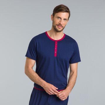 Tee-shirt de pyjama bleu matelot Night Signature-DIM