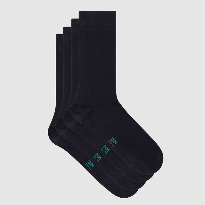 Pack of  2 pairs of men's socks lyocell Navy Green by Dim, , DIM