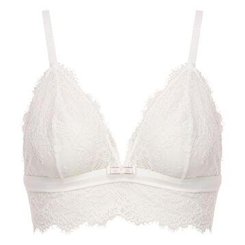 White lace triangle bra for women Refined Lace, , DIM