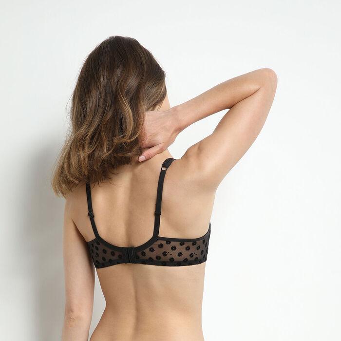 Generous Limited Edition Black daisy underwired bra, , DIM