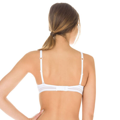 White Invisi Fit push-up bra, , DIM