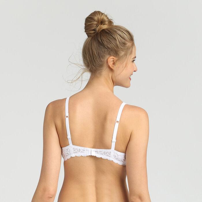 Dim Sublim Dentelle white wireless triangle bra, , DIM