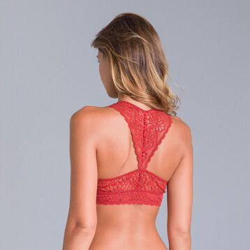 DIM Sublim MOD copper red lace bralette - DIM