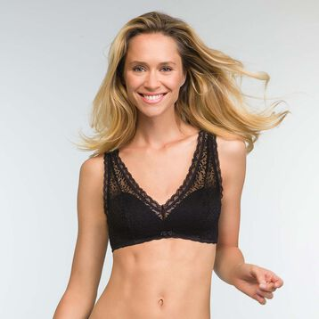 Women's Push-up Bra in Black Lace Daily Glam Trendy Sexy, , DIM