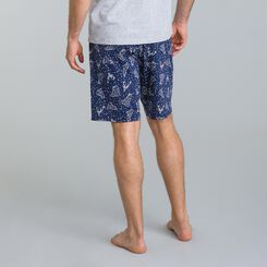 Short de pyjama bleu matelot Street Art-DIM
