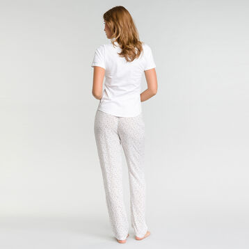 Pyjama trousers with white spots - Fashion, , DIM