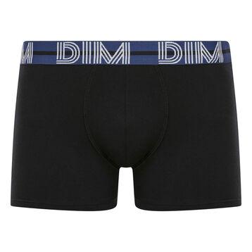 Stretch cotton trunks Black with Blue waistband Dim Powerful, , DIM