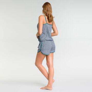 Combishort pyjama à imprimés verts - DIM Odyssée, , DIM