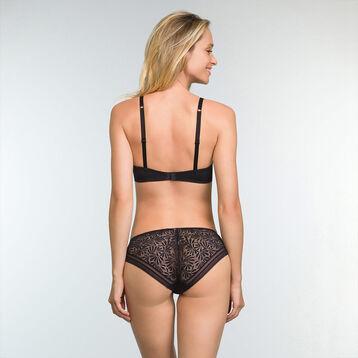 Black lace and microfibre balconette bra Sublim Fashion, , DIM