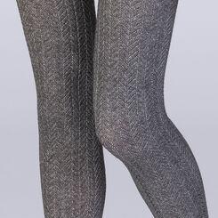 Collant tresse gris chiné 110 D Femme Les Fantaisies-DIM