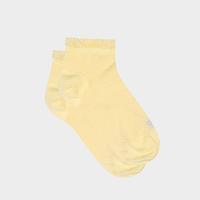 Women's sock with Scottish thread and yellow flying edge Dim Made in France, , DIM