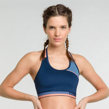 Minimum support sport bra in blue  - Dim Sport, , DIM