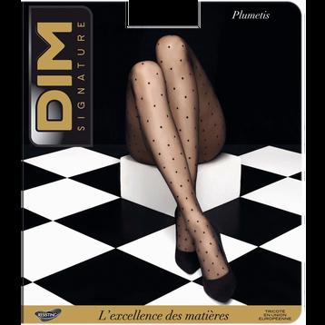 Collant plumetis noir Signature 12D-DIM