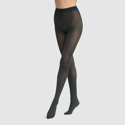 Dim Style 50D opaque velvet tights in dark green, , DIM