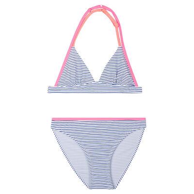 Dim blue and white striped bikini Dim Girl, , DIM