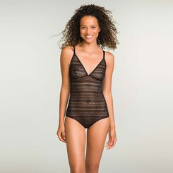 Women's Non-wired Body in Black Lace Mod by Dim, , DIM