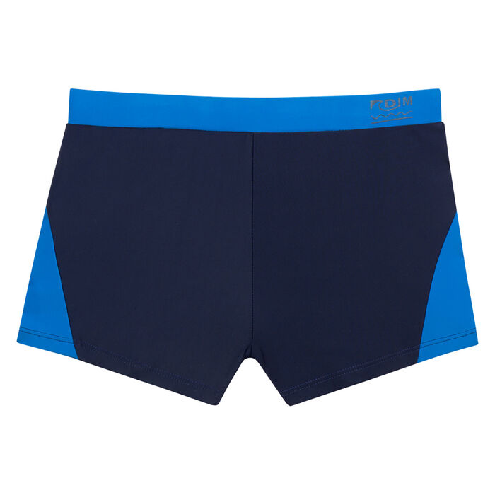 Swim trunks in sailor blue and ultramarine blue Dim Boy, , DIM