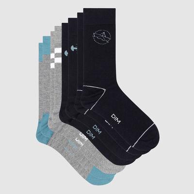 Набор 4 шт.: синие мужские носки Les Bons Plans, , DIM