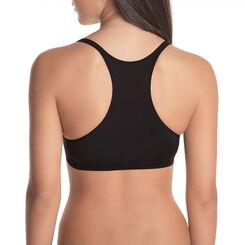 DIM Girl black microfibre sports bra - DIM