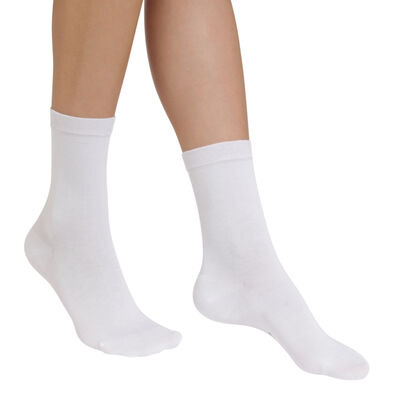 White Sublim hydrating socks for women, , DIM