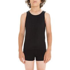 Black DIM Boy stretch cotton tank top - DIM