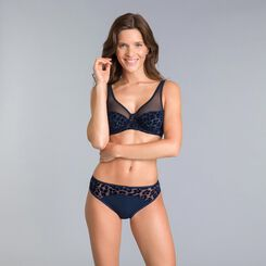 Limited edition Generous blue underwired bra - DIM
