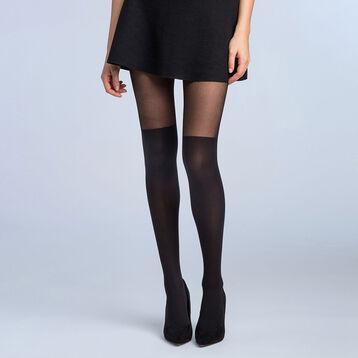 Collant cuissarde noir Style-DIM