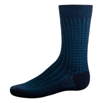 Men's wool calf socks in Navy Blue and Petrol Blue, , DIM