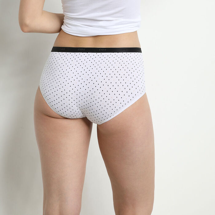 Les Pockets Pack of 3 Women's Stretch Cotton Boxers  with Black and White Patterns, , DIM