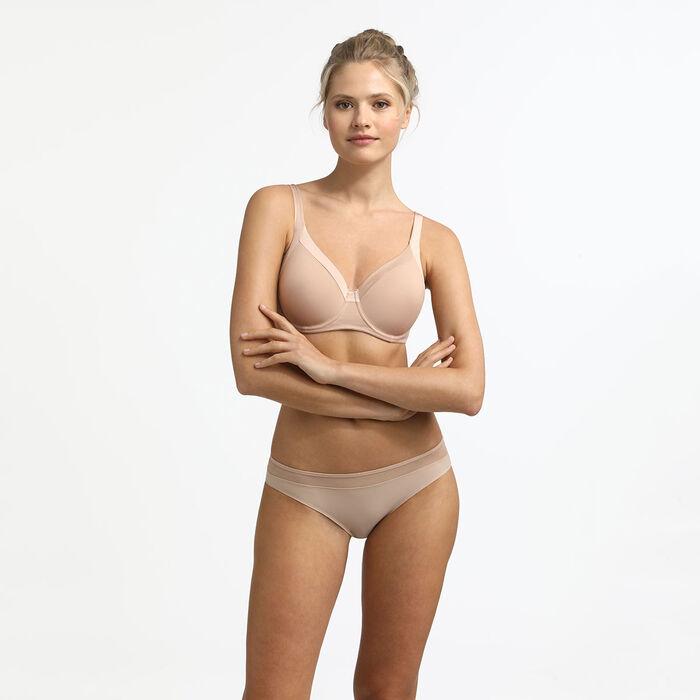 Бюстгальтер пуш-ап телесного цвета на косточках Generous New Skin, , DIM