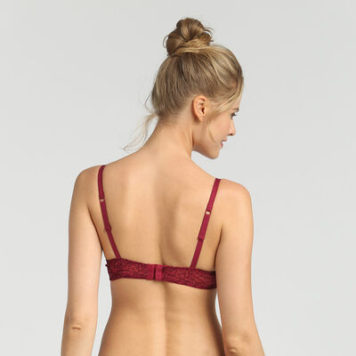 Dim Sublim Velour varnish red underwired bra, , DIM