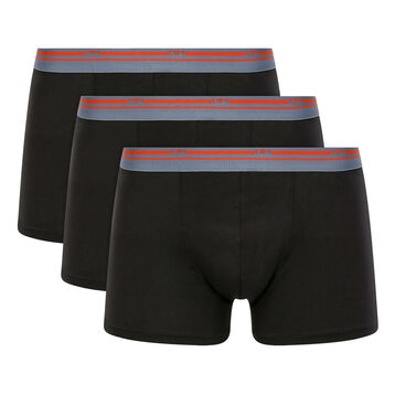 Lot de 3 boxers coton stretch Noir pour homme Daily Colors, , DIM