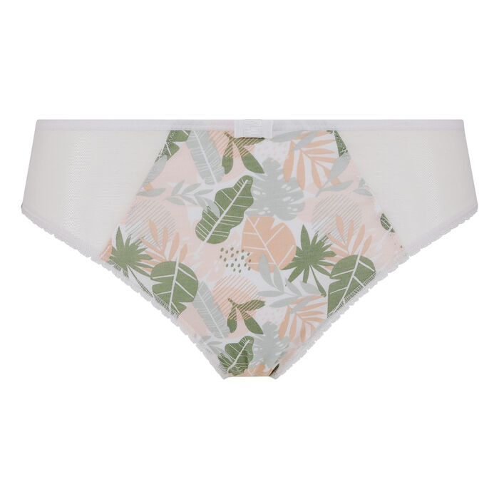 Generous Organic Cotton Dim tropical green printed briefs, , DIM