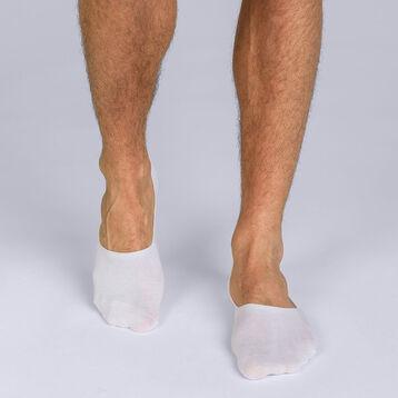 Lot de 2 protège-pieds blanc Homme Basic Coton-DIM